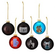 "WWE Superstars"" 6-Piece Glass Ball Ornament Set"