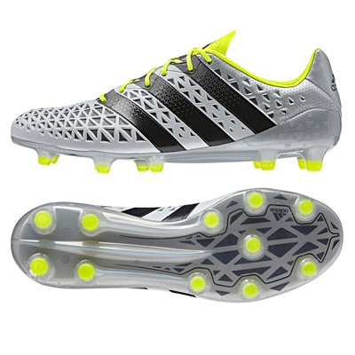 adidas Ace 16.1 Firm Ground Football Boots - Silver Metallic/Core Blac