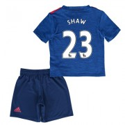 Manchester United Away Mini Kit 2016-17 with Shaw 23 printing