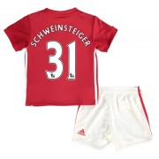 Manchester United Home Baby Kit 2016-17 with Schweinsteiger 31 printin