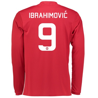 Manchester United Cup Home Shirt 2016-17 - Long Sleeve with Ibrahimovi