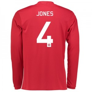 Manchester United Cup Home Shirt 2016-17 - Long Sleeve with Jones 4 pr