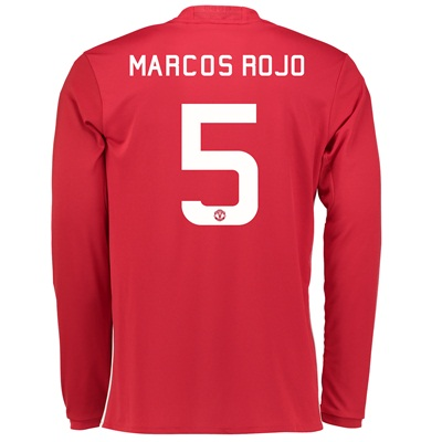 Manchester United Cup Home Shirt 2016-17 - Long Sleeve with Marcos Roj