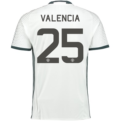 Manchester United Cup Third Shirt 2016-17 with Valencia 25 printing