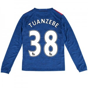 Manchester United Away Shirt 2016-17 - Kids - Long Sleeve with Tuanzeb
