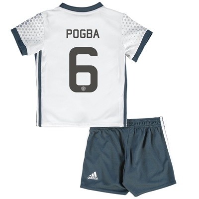 Manchester United Cup Third Baby Kit 2016-17 with Pogba 6 printing