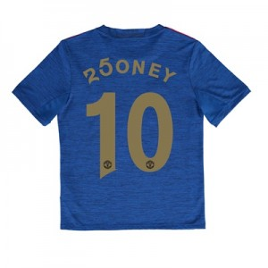 Manchester United Away Shirt 2016-17 - Kids with 250ney 10 printing