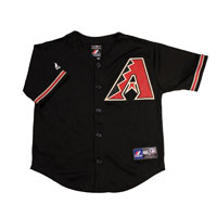 Arizona Diamondbacks Majestic Child Alternate Replica Baseball Jersey (Black) All items