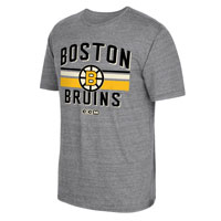 Boston Bruins CCM Retro Classic Stripe Tri-Blend T-Shirt All items