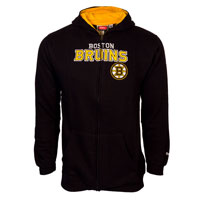 Boston Bruins Youth NHL Stated Embroidered Full Zip Hoodie – Black All items