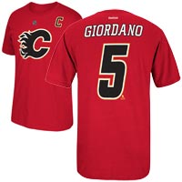 Calgary Flames Mark Giordano Reebok NHL Player Name & Number T-Shirt All items