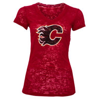 Calgary Flames Women's Valerie Burnout T-Shirt All items