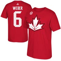 Canada Shea Weber World Cup Of Hockey Player Name & Number T-Shirt All items