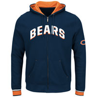Chicago Bears Anchor Point Full Zip NFL Hoodie All items