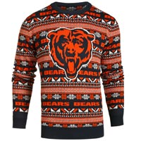 Chicago Bears NFL Big Logo Ugly Crewneck Sweater All items