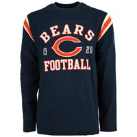 Chicago Bears NFL Lateral Felt Applique Long Sleeve Jersey T-Shirt All items