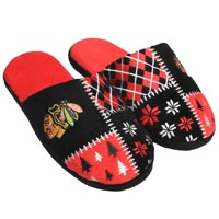 Chicago Blackhawks Men's Ugly Sweater Knit Slippers All items