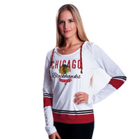 Chicago Blackhawks Women's Laced Up Lucy FX Hooded Long Sleeve T-Shirt All items