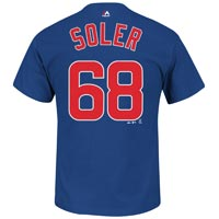 Chicago Cubs Jorge Soler MLB Player Name & Number T-Shirt (Deep Royal) All items