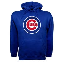 Chicago Cubs Twill Logo Hoody (Royal) Hoodies