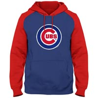 Chicago Cubs Twill Logo Raglan Express Hoody Hoodies