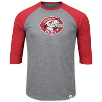 Cincinnati Reds Cooperstown Two To One Margin 3/4 Raglan T-Shirt All items