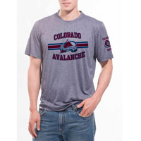 Colorado Avalanche Bar Stripe Performance FX T-Shirt (Heather Pepple) All items