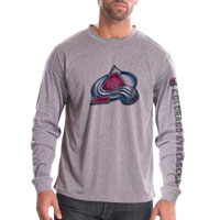 Colorado Avalanche Chrome FX Long Sleeve T-Shirt (Heather Pebble) All items
