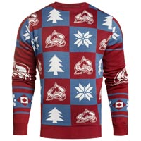 Colorado Avalanche NHL Patches Ugly Crewneck Sweater All items