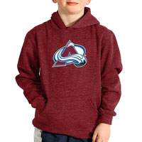 Colorado Avalanche YOUTH Suede Logo Hoodie All items