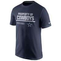 Dallas Cowboys NFL Nike 2016 Property Of T-Shirt All items