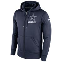 Dallas Cowboys NFL Sideline KO Performance Full Zip Hoodie Hoodies