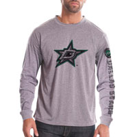 Dallas Stars Chrome FX Long Sleeve T-Shirt (Heather Pebble) All items