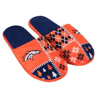 Denver Broncos Men's Ugly Sweater Knit Slippers All items