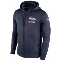 Denver Broncos NFL Sideline KO Performance Full Zip Hoodie Hoodies