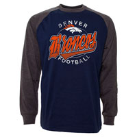 Denver Broncos Rounder Raglan Long Sleeve Jersey T-Shirt All items