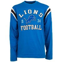 Detroit Lions NFL Lateral Felt Applique Long Sleeve Jersey T-Shirt All items
