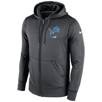 Detroit Lions NFL Sideline KO Performance Full Zip Hoodie Hoodies