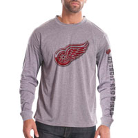 Detroit Red Wings Chrome FX Long Sleeve T-Shirt (Heather Pebble) All items
