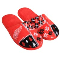 Detroit Red Wings Men's Ugly Sweater Knit Slippers All items