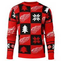 Detroit Red Wings NHL Patches Ugly Crewneck Sweater All items