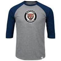 Detroit Tigers Cooperstown Two To One Margin 3/4 Raglan T-Shirt All items