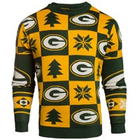 Green Bay Packers NFL Patches Ugly Crewneck Sweater All items