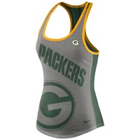 Green Bay Packers Women's Dri-FIT NFL Touchdown Racer Back Tank All items