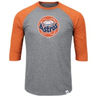 Houston Astros Cooperstown Two To One Margin 3/4 Raglan T-Shirt All items