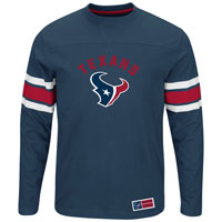 Houston Texans 2016 Power Hit Long Sleeve NFL T-Shirt With Felt Applique All items