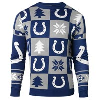 Indianapolis Colts NFL Patches Ugly Crewneck Sweater All items