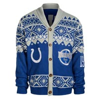 Indianapolis Colts NFL Ugly Knit Cardigan Holiday Sweater All items
