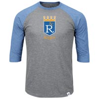 Kansas City Royals Cooperstown Two To One Margin 3/4 Raglan T-Shirt All items