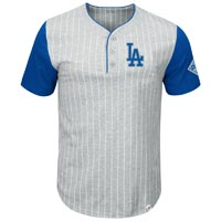 Los Angeles Dodgers Pinstripe Henley T-Shirt All items